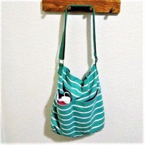 Mossimo Striped Canvas Crossbody Bag